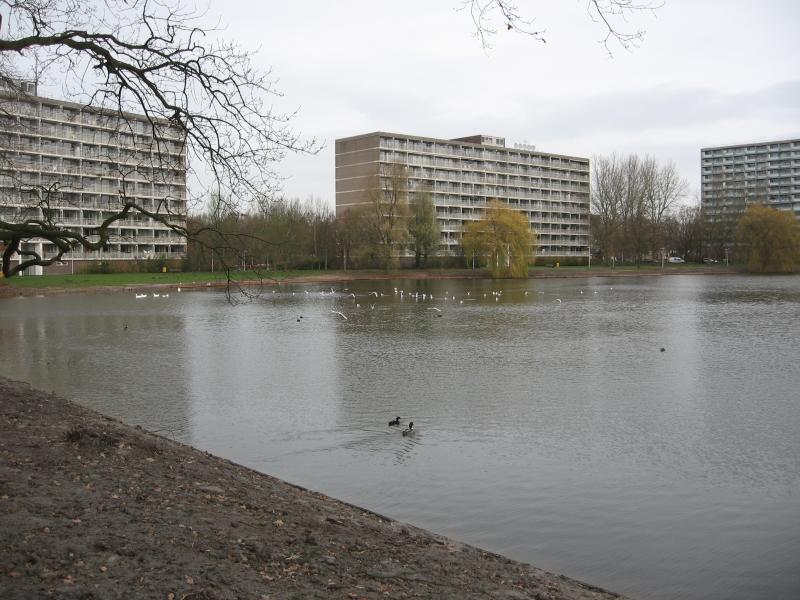 Hilversum, Kerkelanden vijver