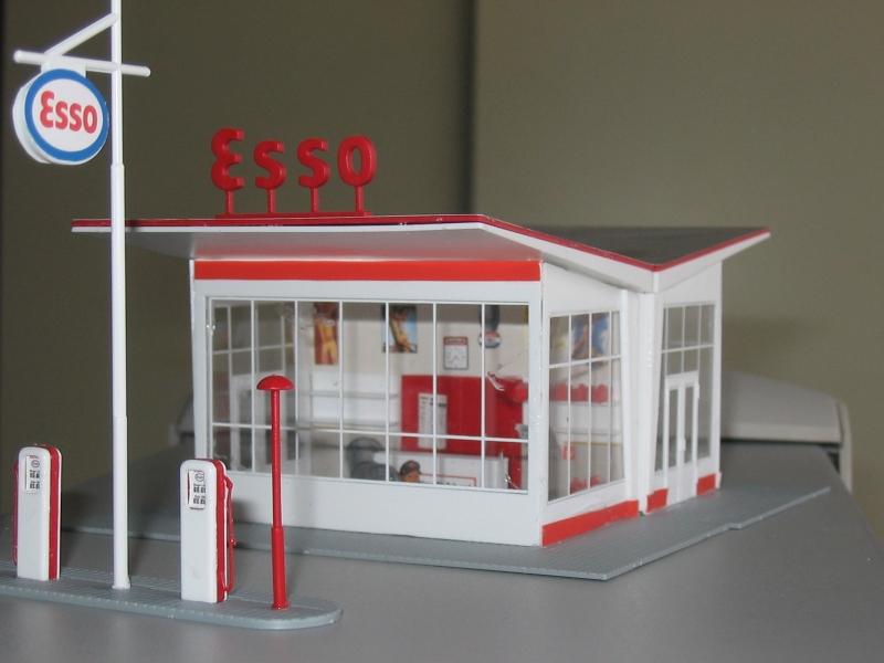Esso-station, bouwpakket h0