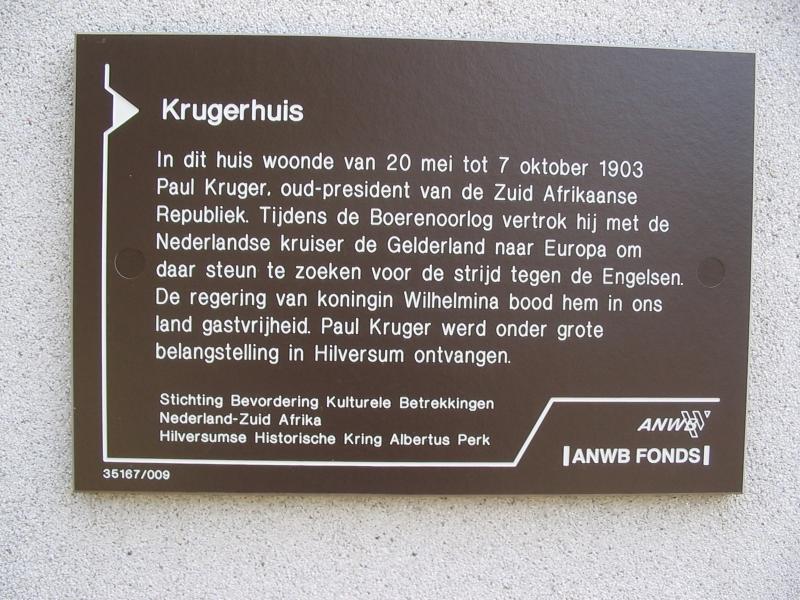 Krugerhuis, Hoge Naarderweg 46, Hilversum