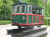 Replica locomotief, voor Rechthuis in Muiderberg